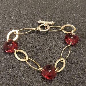 Gold tone link bracelet